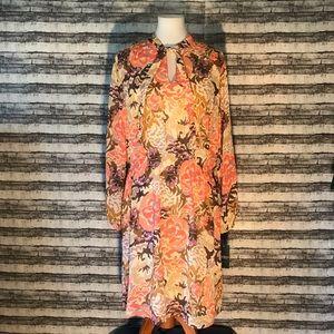 RL Floral Chiffon Dress